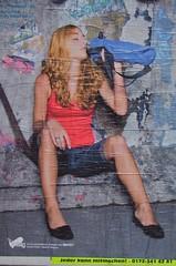 poster girl drinking (Winfried Veil) Tags: red berlin rot girl wall germany advertising poster deutschland graffiti sitting veil legs drink wand leg ad drinking bein advertisement jeans sit advert knee werbung trinken mitte plakat shanks winfried knie beine shank sitzen schenkel redhaired sitzend rothaarig bbag trinkend lowerleg lowerlegs madchen unterschenkel mobilew jederkannmitmachen winfriedveil