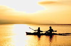 gold:  110/365 (helen sotiriadis) Tags: sunset sea sun reflection water silhouette canon gold published paddle canoe greece canon350d oar 365 canonrebelxt ηλιοβασίλεμα carlsagan loutraki canonef50mmf14usm thegoldenrule ελλάδα θάλασσα νερό αντανάκλαση χρυσό ήλιοσ λουτράκι toomanytribbles