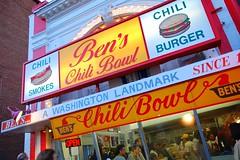 Ben's Chili Bowl (Steve Snodgrass) Tags: red sign yellow restaurant washingtondc chili burger crowd hamburger storefront smokes longline comfortfood ustreet benschilibowl commercialart halfsmoke shortorder washingtonlandmark since1958 washingtoninstitution