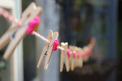 Pegs with interesting depth of field (bakermz) Tags: macro canon focus dof line depthoffield manual 1855 peg washing selective 450d