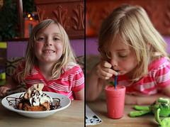 Hola! (*canadian chick*) Tags: summer portrait food mexico dessert education diptych drink eating drinking culture july mexican h icecream learning abc summertime teaching 365 homeschool homeschooling hola dippy project365 365days totw 36365 365project threesixtyfive