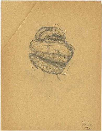 Sketches by Melvina Williams of hair styling techniques, 1962 by The Denver