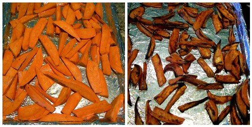 Making the Sweet Potato Fries
