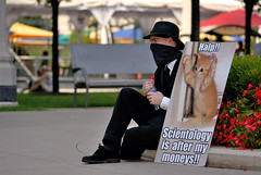3739 (AnonAlice) Tags: chicago illinois il scientology cult millenniumpark anonymous xenu chanology marcab marcabian marcabia