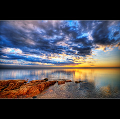 good morning (moe chen) Tags: ocean sea clouds sunrise dawn coast nikon rocks maine sigma moe 1020mm brooklin d300 abigfave moe76