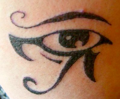 bird tattoo · egyptian eye