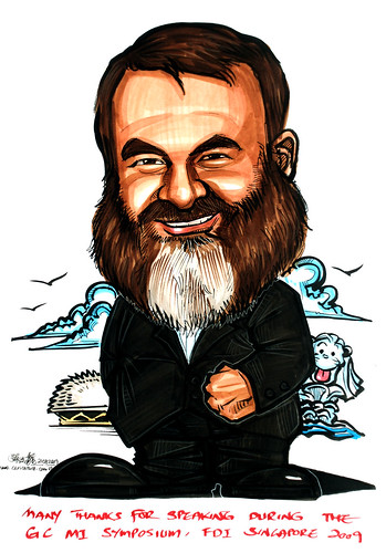 Caricature for GC Asia Dental - 1