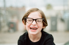 (andrew sea james) Tags: portrait color film girl 35mm vintage 50mm glasses nikon child lasvegas kodak nevada nikkor f18 expired 160vc portra fa afd