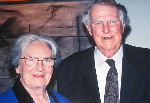 Sir  Edmund Hillary and his wife  © copyright  2009