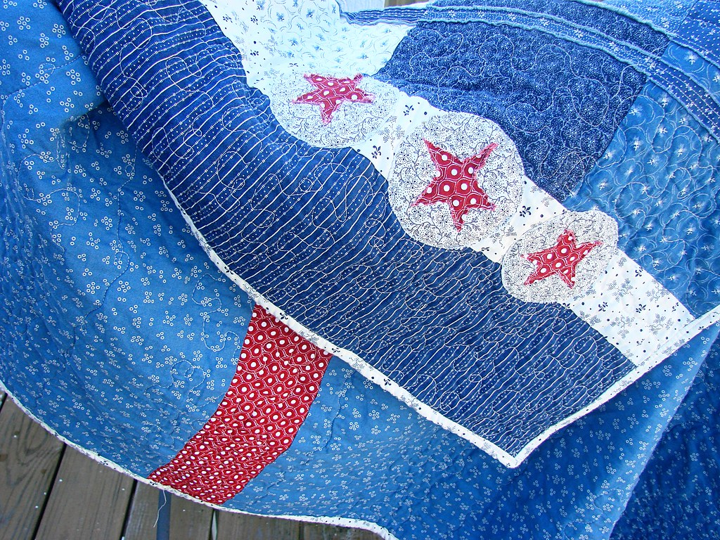 Tim's quilt, Applique Details