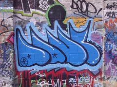 dank (manchester graffiti) Tags: urban streetart stencils west art manchester graffiti paint pieces north tags buff spraypaint graff graffit salford urbanism fym ins mcr dfc vadalism cornbrooks