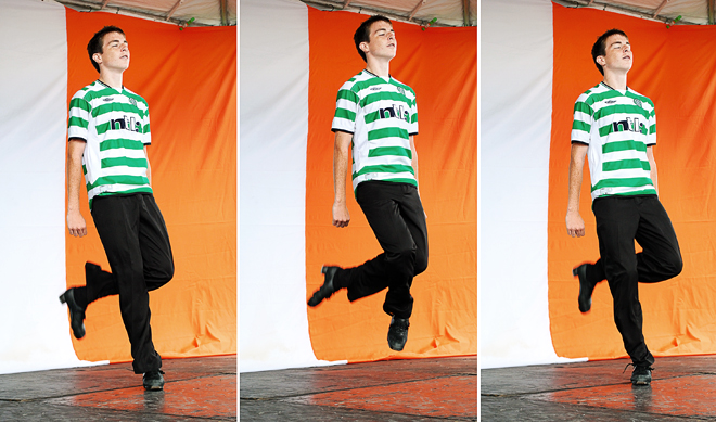 Irish dance triptych