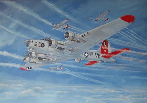 381stBG Ridgewell USAAF B17G