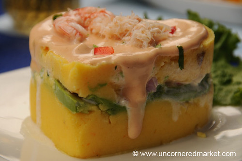 Rich Causa with Shrimp & Crab