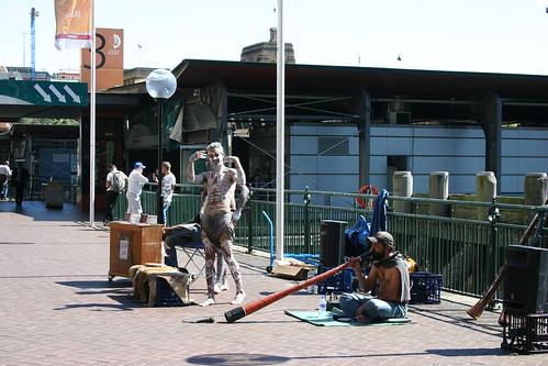 Espectáculo callejero en Sydney