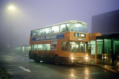 The nights are fair drawing in (georgeupstairs) Tags: bus fog night oldham doubledecker leyland gmt gmpte atlantean 8224 gmbuses northerncounties an68 greatermanchesterpte limeside ana224t