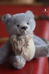 Little Jean (Marion Klein) Tags: bear blue baby toy klein artist hand teddy handmade 5 ooak bears acid marion mohair attic dyed joints jointed cotterpin pepperpyne marionbearmaker