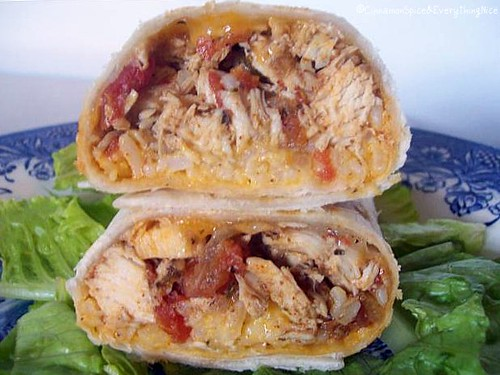 Zesty Chicken Burritos