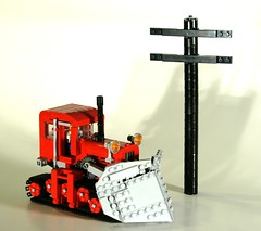 it's not for zombies (psiaki) Tags: snow tractor katy lego plow moc virginialeeburton katyandthebigsnow