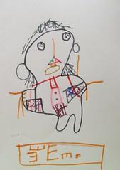 20090611-yoyo畫自己長針眼