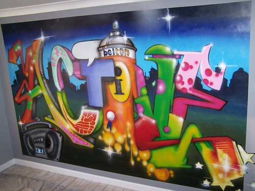 active bedroom graffiti arkade graphics