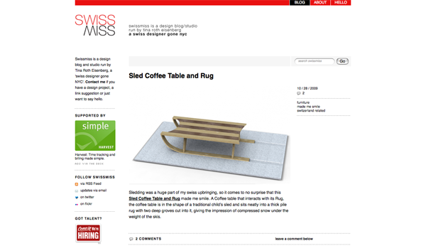 swissmiss | Sled Coffee Table and Rug_1256786852375