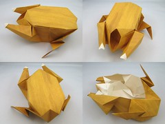 Roast Chicken (Joseph Wu Origami) Tags: chicken design origami roast poultry josephwu