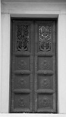 (Luckdragon57) Tags: door bw greenwood eternity