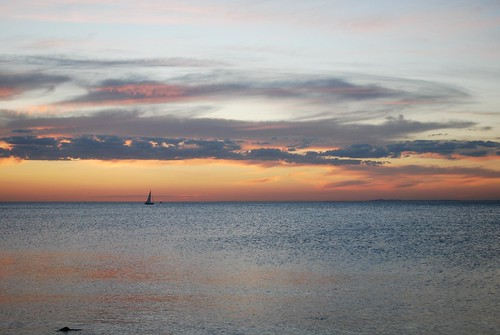 Calm seas at sunset - North Brighton Beach