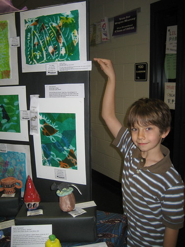 Jonathon had a piece in the art show too.