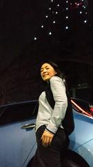 東京タワーの根元でリーフとぱちり。今日はがっちりアカデミーの収録で、駐車場で即席試乗かしました。
