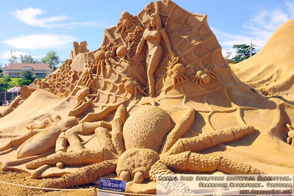 Annual Sand Sculpting Australia exhibition, Frankston waterfront-11