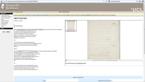 Bentham Papers Transcription Initiative / University College London