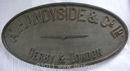 A. Handyside & Co Ltd badge from Handyside Bridge, Derby.