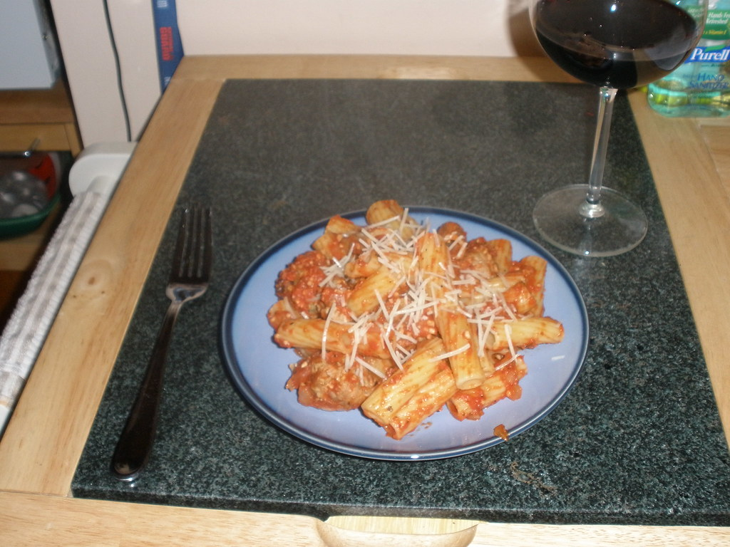 Mini Turkey Meatballs with Rigatoni