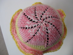 Top of baby neighbor girl hat