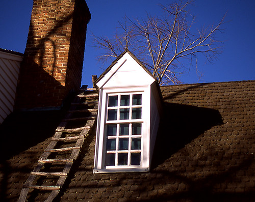 Colonial Roof Abstract. (Fuji Provia 100F. Nikon F100. Epson V500.)