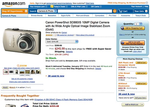 Canon SD880IS Shopping