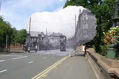 then in now holmlea road (Dave S Campbell) Tags: old bus florida glasgow ghost mount southside then now trolly trams cathcart blend langside