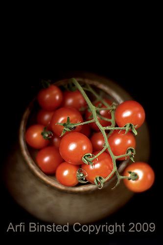 tomatoes dark bg- areal shot by ab'09