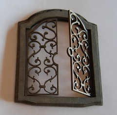 Iron door gate