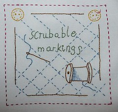 scrubable markings