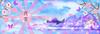Banner (Naitoyuki4444710) Tags: pink wallpaper paris anime art japan illustration lune logo de photography petals rainbow spain asia kei pics web banner goth manga super blogger hyde junior oriental visual vamps larme larcenciel suju heechul naitoyuki ainafetse