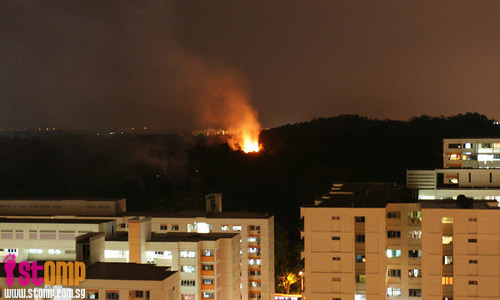 """Terrifying to see huge balls of fire in S'pore"""