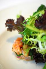 Salade de gourmande au homard, anguille fumee et St- Jacques - DSC_3709