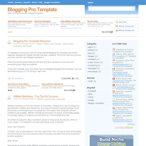 50 (Most) Beautiful Blogger Templates