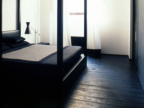 Matte Ebony Floors Door Sixteen