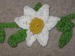 Daffodil (la_maosa) Tags: white flower yellow spring crochet garland daffodil bouquet
