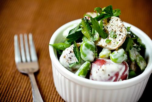 Potato Salad with Fava Beans