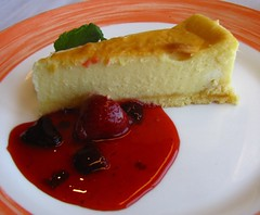 The Cheesecake, Lido Restaurant, ms Rotterdam, Rotterdam, The Netherlands (Snuffy) Tags: food dessert hollandamerica msrotterdam lidorestaurant